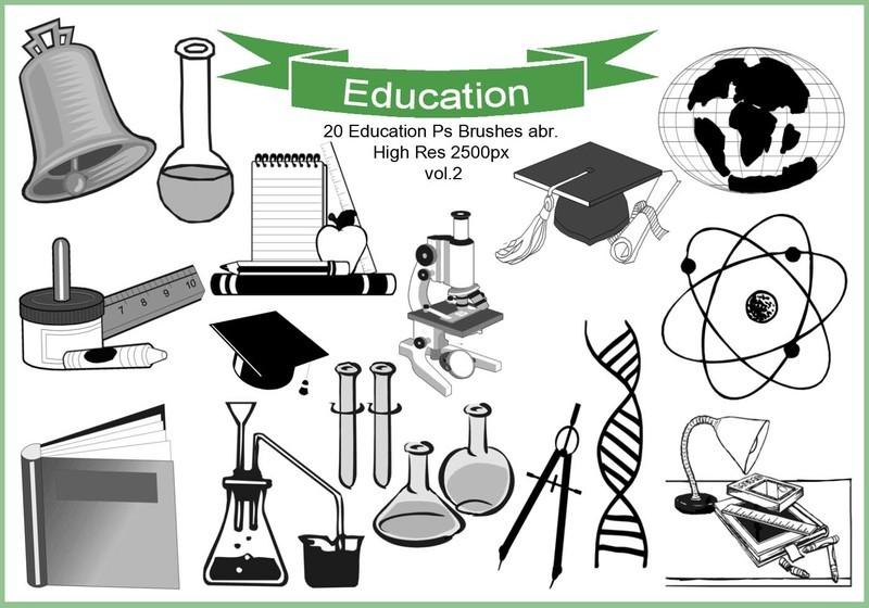 20 Education Ps Brushes abr. vol.2 Photoshop brush