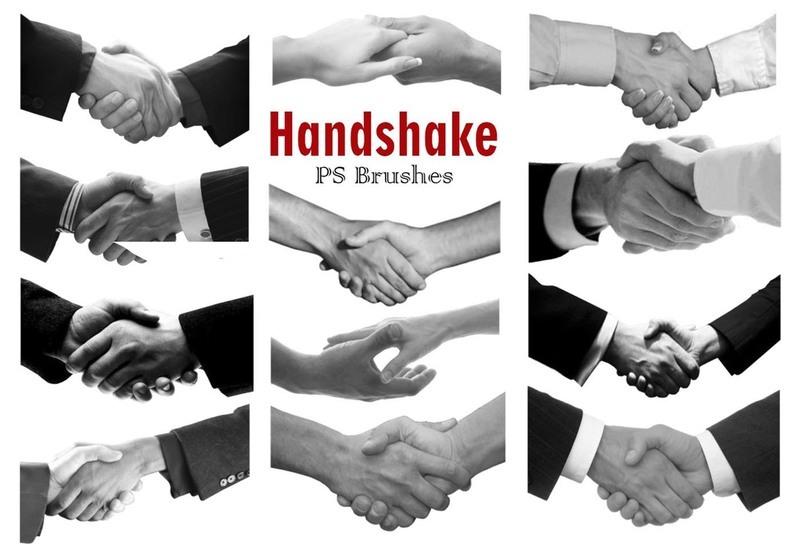 20 Handshake PS Brushes abr Vol.3 Photoshop brush