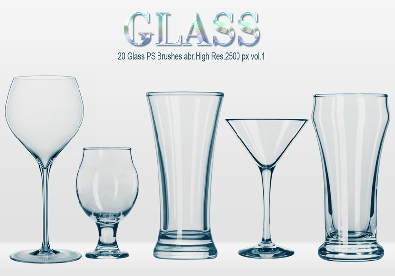 20 Glass PS Brushes abr.vol.1 Photoshop brush