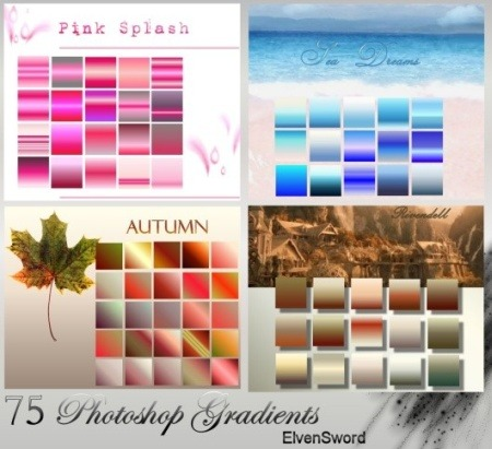 75 Photoshop Gradients Photoshop brush