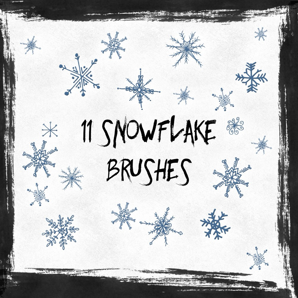 11 Free Snowflakes Brushes Photoshop brush