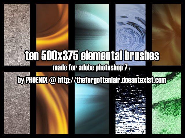 10 Elemental Texture Brush Photoshop brush