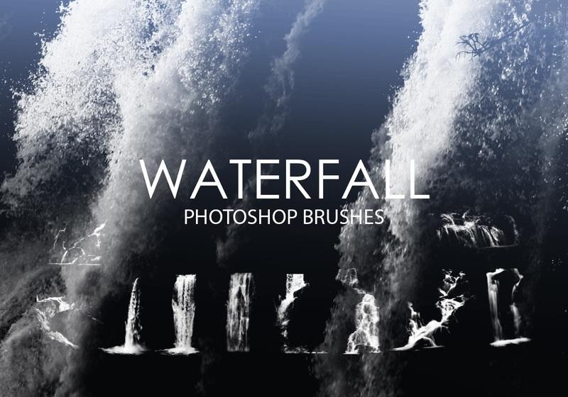 Free Waterfall Photoshop Brushes Photoshop brush