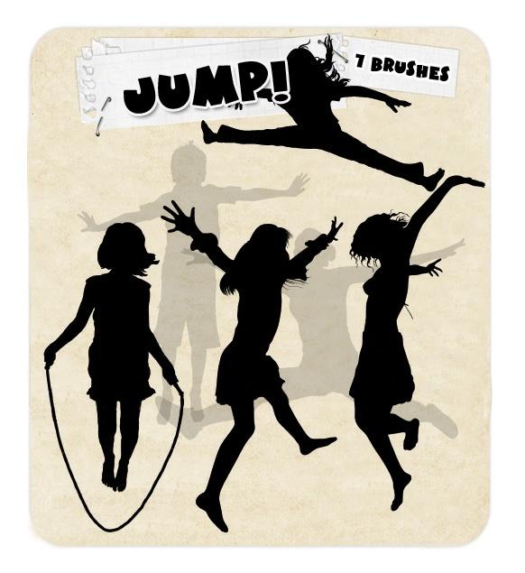 Jump Photoshop brush