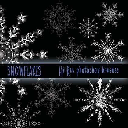 Hi Res Snowflake Brushes Photoshop brush