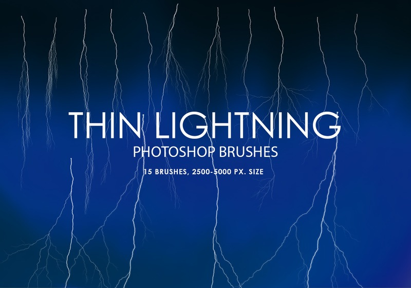 Free Thin Lightning Photoshop Brushes Photoshop brush
