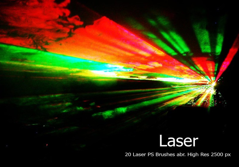 20 Laser PS Brushes abr. vol.1 Photoshop brush