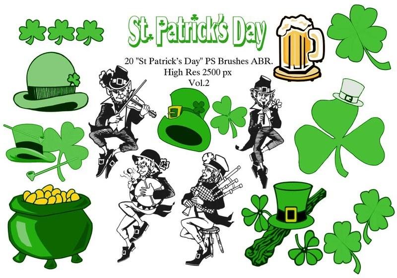 "20 ""St Patricks Day"" PS Brushes abr. Vol.2 Photoshop brush"