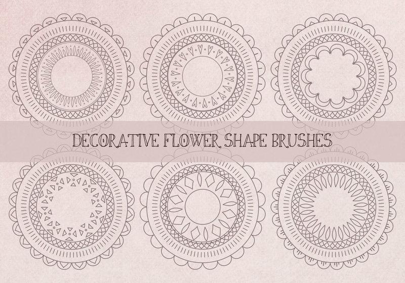 Decorative Abstract Flower Shape Brushes Photoshop brush