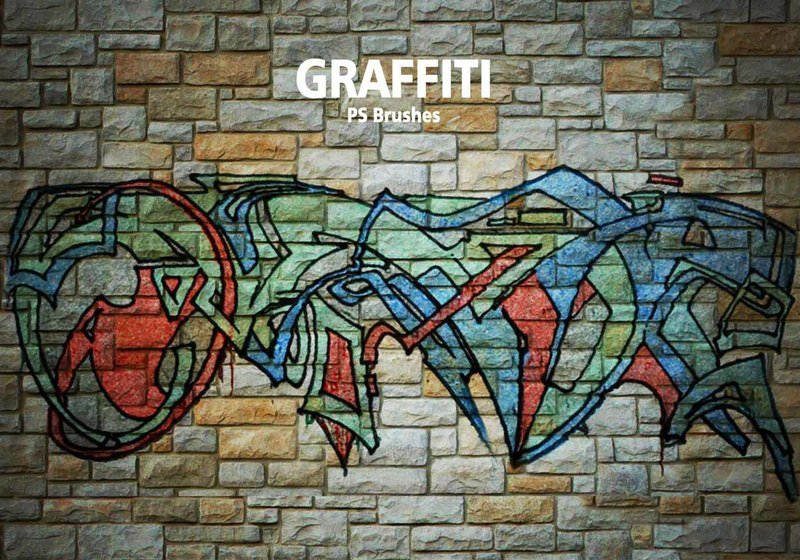 20 Graffiti PS Brushes abr. Vol.6 Photoshop brush