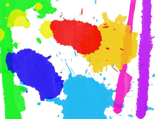 Watercolor Splatters & Drips Brushes Photoshop brush