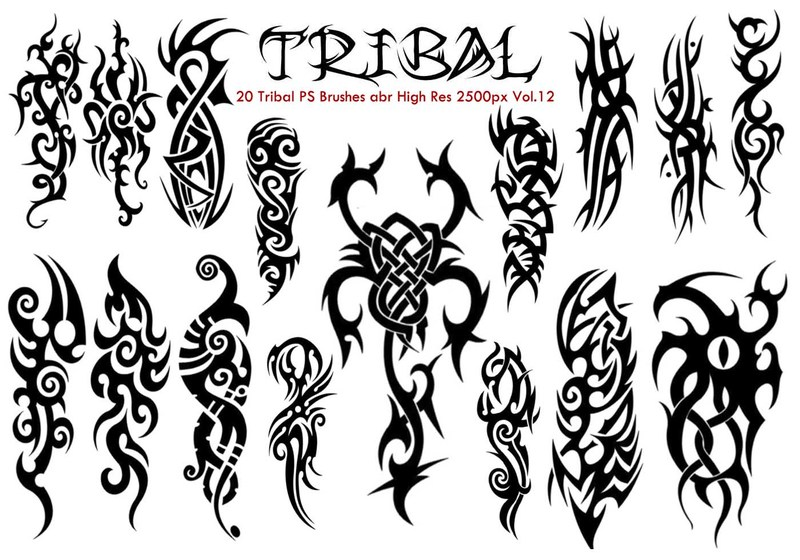 Tribal PS Brushes Vol.12 Photoshop brush