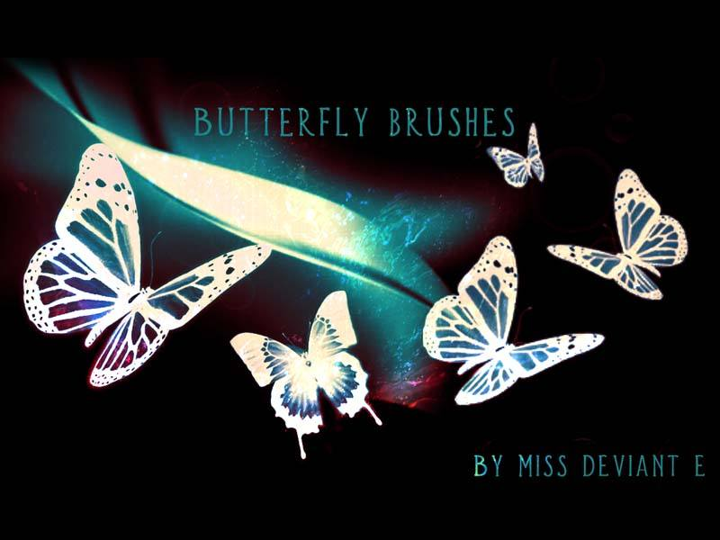 Butterfly brushes Photoshop brush