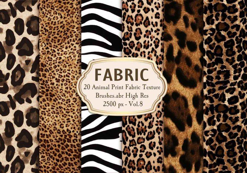 20 Animal Print Fabric Brushes.abr Vol.8 Photoshop brush