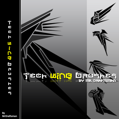 Tech Wing Brushes Photoshop brush