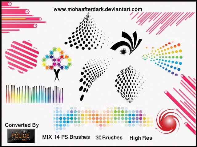 MIX 14 Photoshop brush