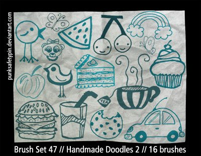 Handmade Doodles 2 Photoshop brush