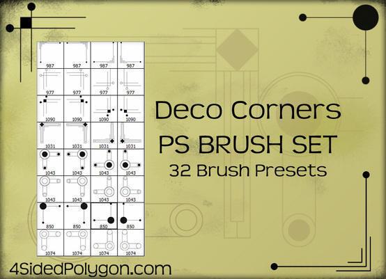 Deco Corners Photoshop brush