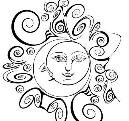 Sun and Moon Brush Photoshop brush