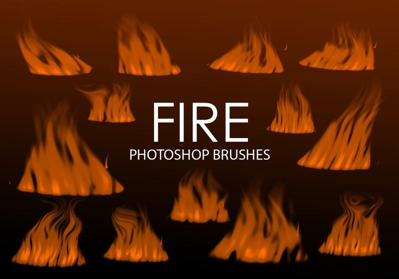 Free Digital Fire Photoshop Brushes 2 Photoshop brush