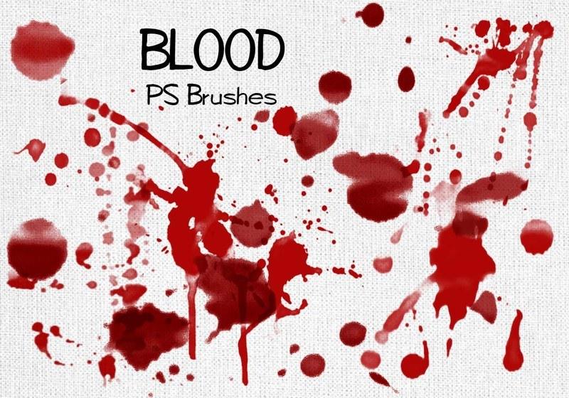 20 Blood Splatter PS Brushes abr vol.3 Photoshop brush