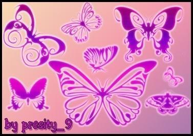7 Fancy Butterfly Brushes  Photoshop brush