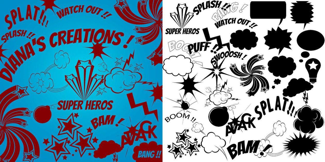 Comic Book Action Brushes Photoshop brush