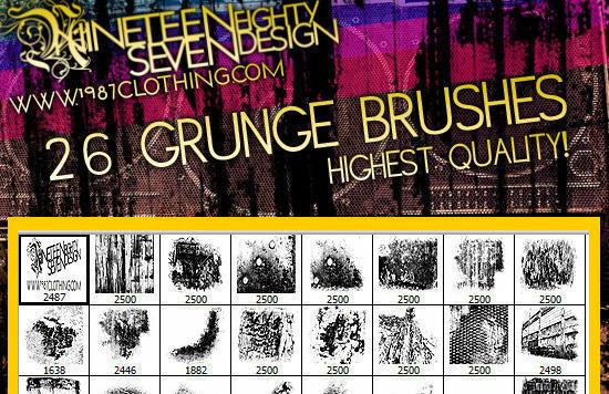 Grunge brush set (image pack included!) Photoshop brush