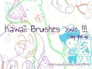 Kawaii Doodle Brushes  Photoshop brush