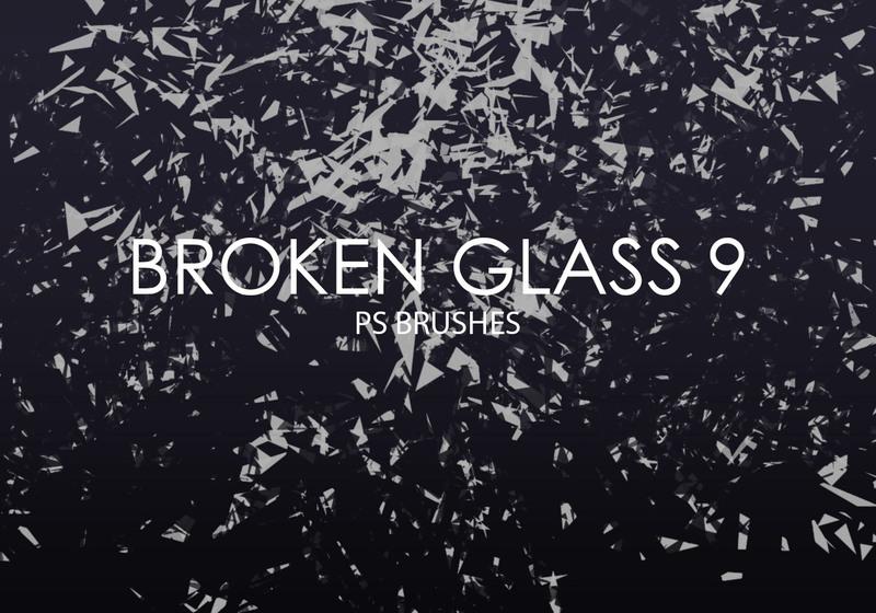 Free Broken Glass Photoshop Brushes 9 Photoshop brush