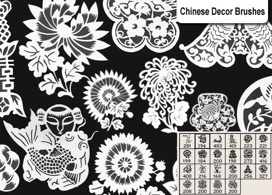 Chinese Decor Brushes Photoshop brush