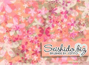FREE Seishido.biz Distressed Flower Brushes  Photoshop brush