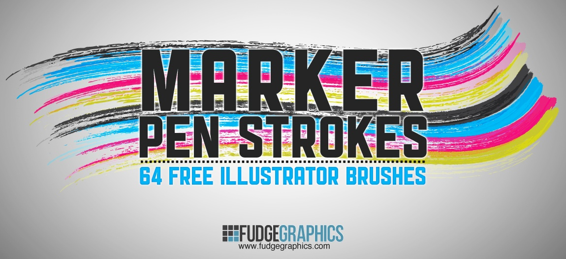 Marker Pen Strokes Photoshop brush