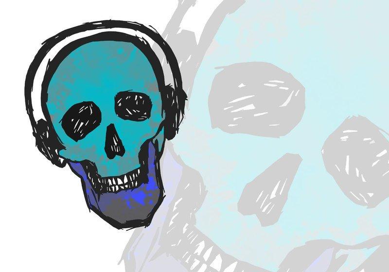 Smiling Skull Brushes Photoshop brush