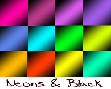 Neon N Black Photoshop brush