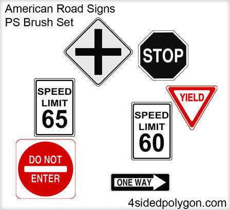 Road Signs Brushes Photoshop brush