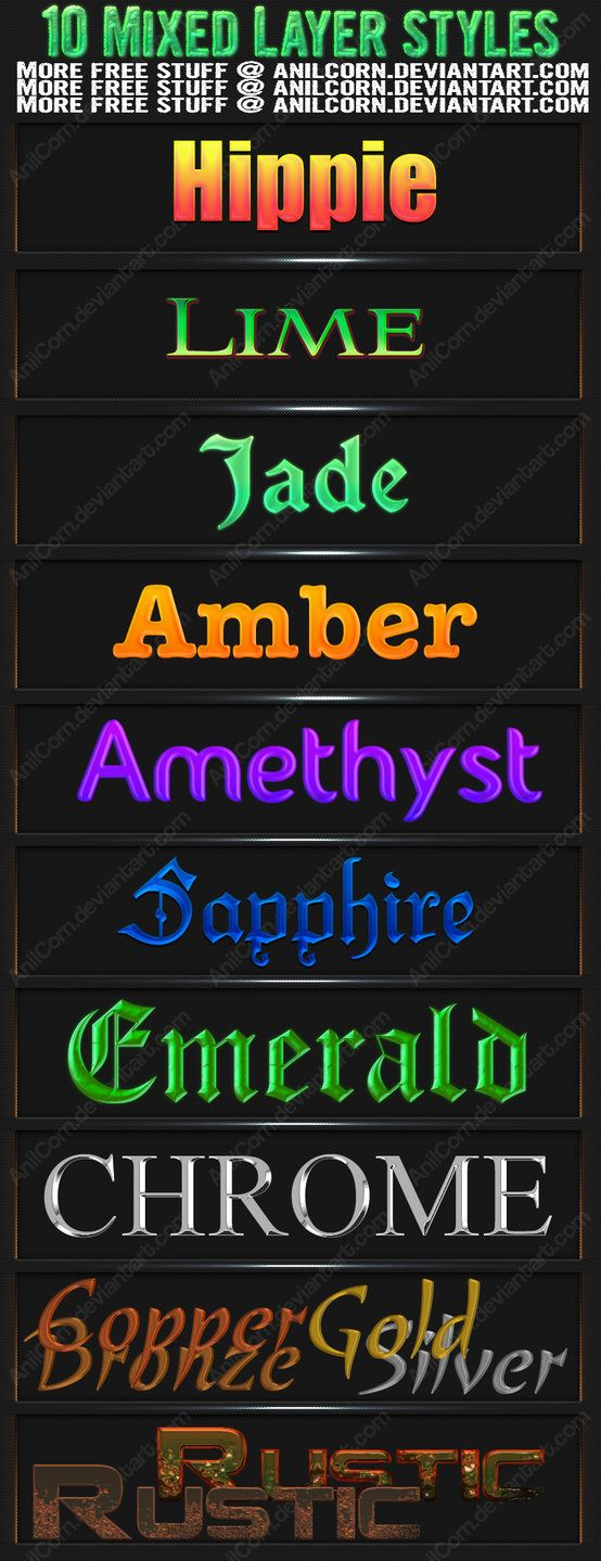 Mixed Layer Styles 4 Photoshop brush