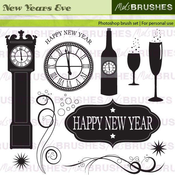 Happy New Year Photoshop brush