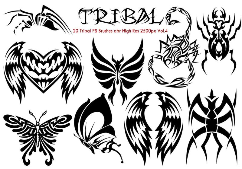 Tribal PS Brushes Vol.4 Photoshop brush
