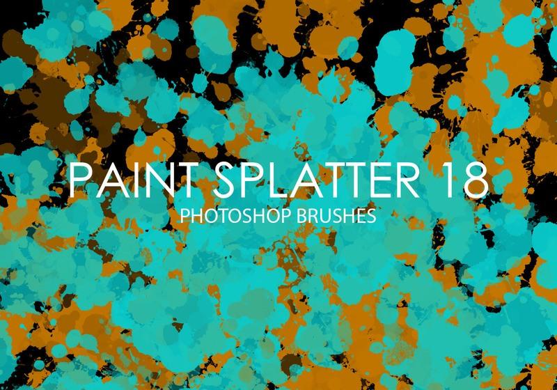 Free Paint Splatter Photoshop Brushes 18 Photoshop brush