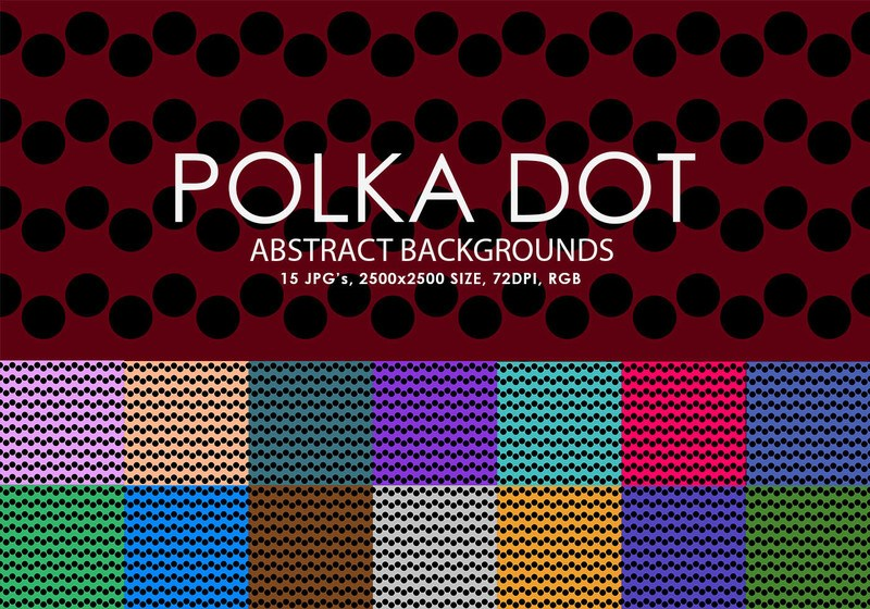 Free Polka Dot Backgrounds Photoshop brush