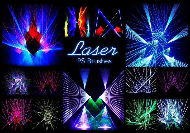 20 Laser Stage PS Brushes abr. vol.13 Photoshop brush