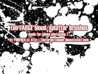 10 Splatter Brushes Photoshop brush
