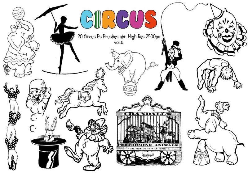 20 Circus Ps Brushes vol.5 Photoshop brush