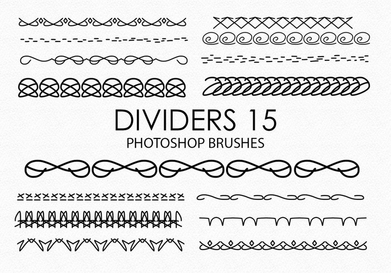 Free Hand Drawn Dividers Photoshop Brushes 15 Photoshop brush