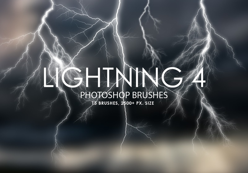 Free Lightning Photoshop Brushes 4 Photoshop brush