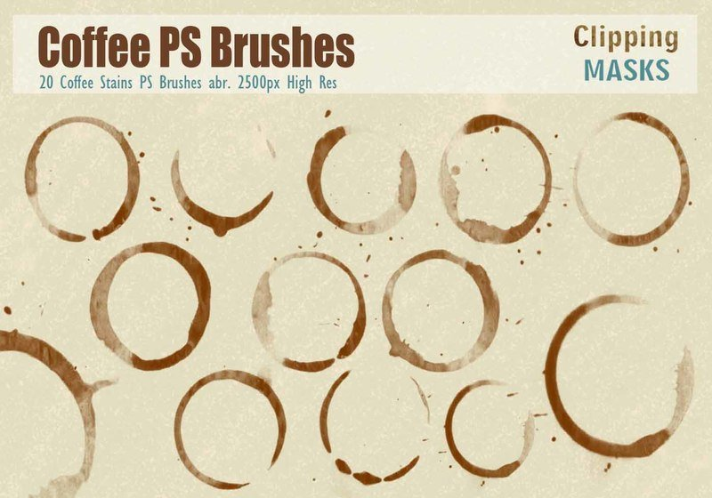 Coffee Stains PS Brushes abr. Photoshop brush