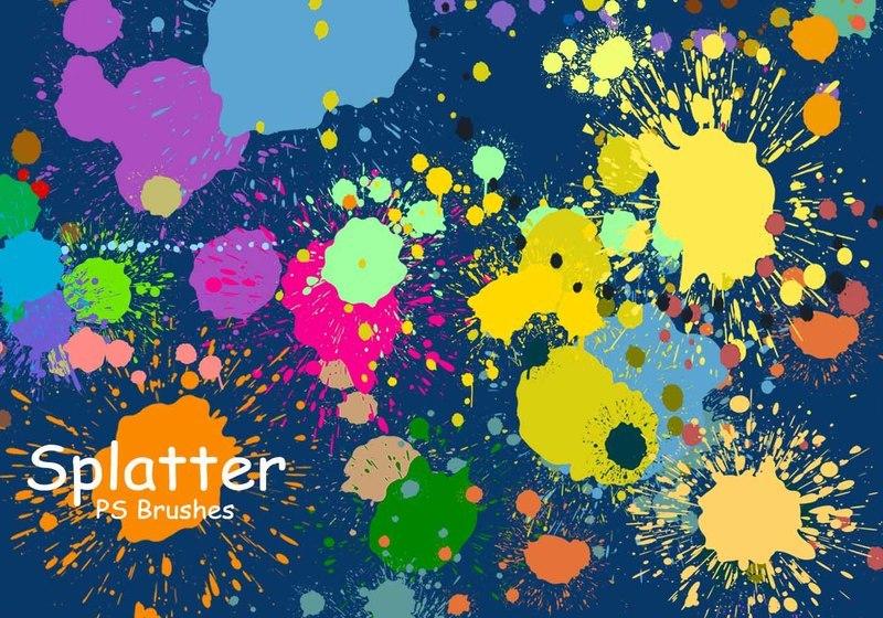 20 Splatter Color PS Brushes abr vol.3 Photoshop brush