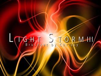 Light Storm 3 Photoshop brush