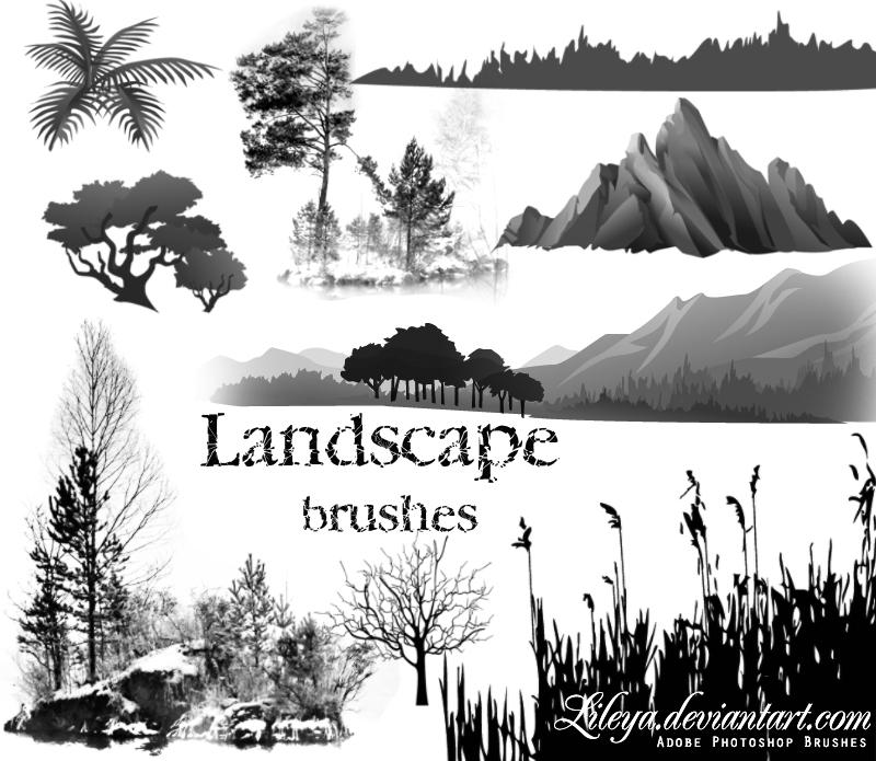 Landscape brushes Photoshop brush